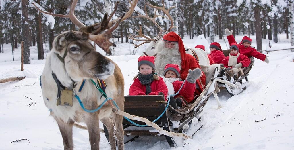 Снеговики на санях с оленями msmstudy