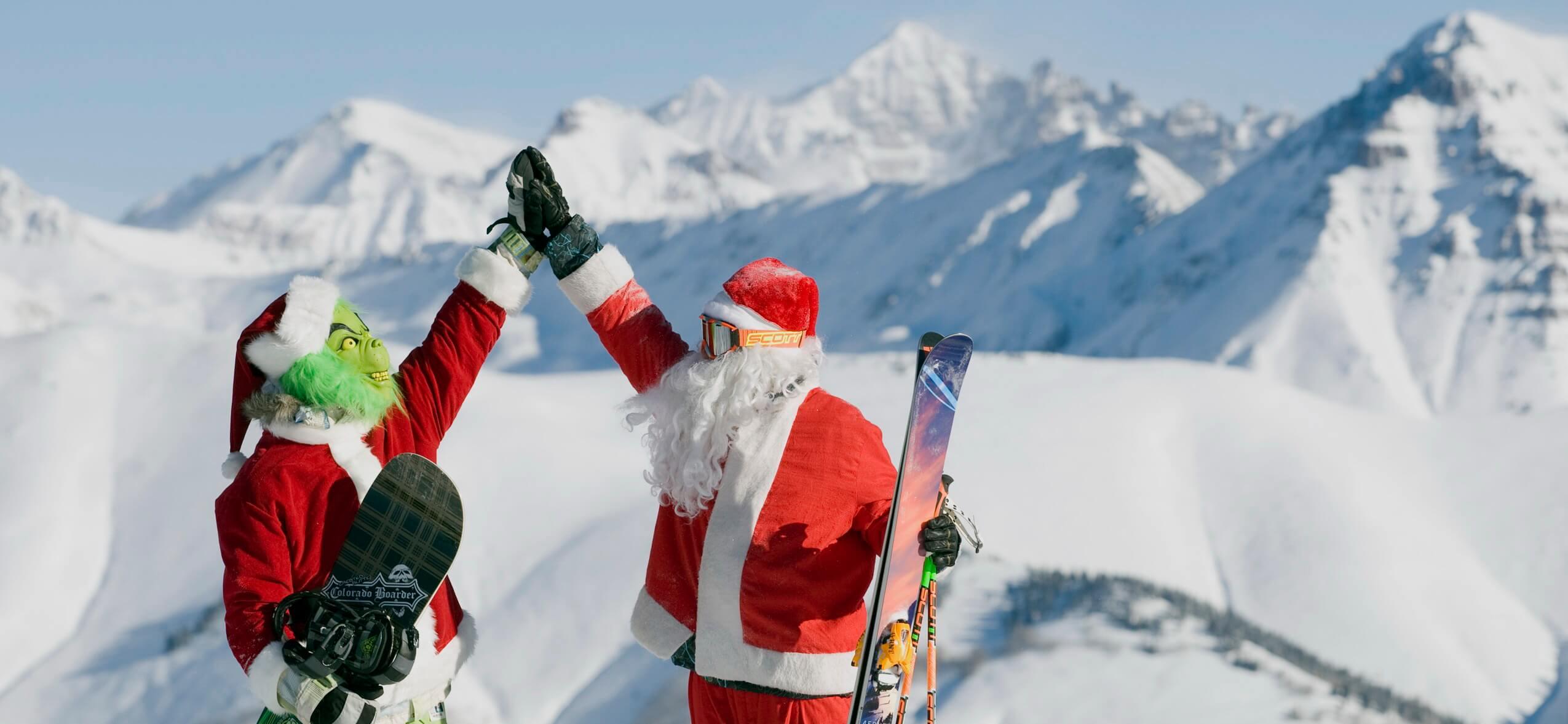 Санта клаусы в горах msmstudy