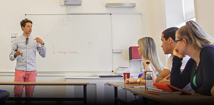 Занятия студентов в Лэнгвич Гэлари в Дублине msmstudy