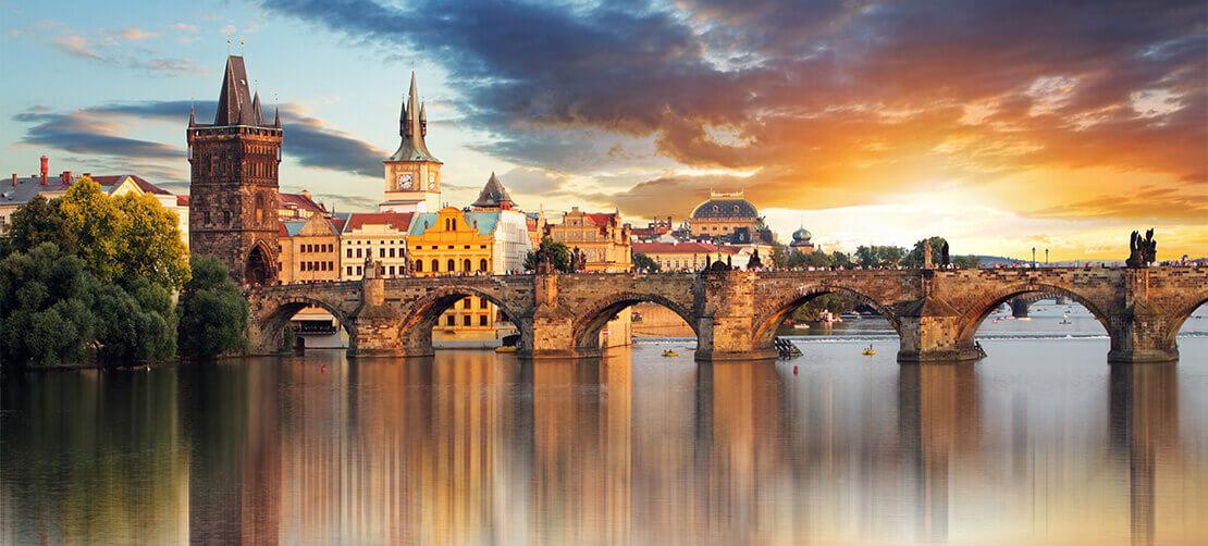 Карлово мост закат msmstudy.com