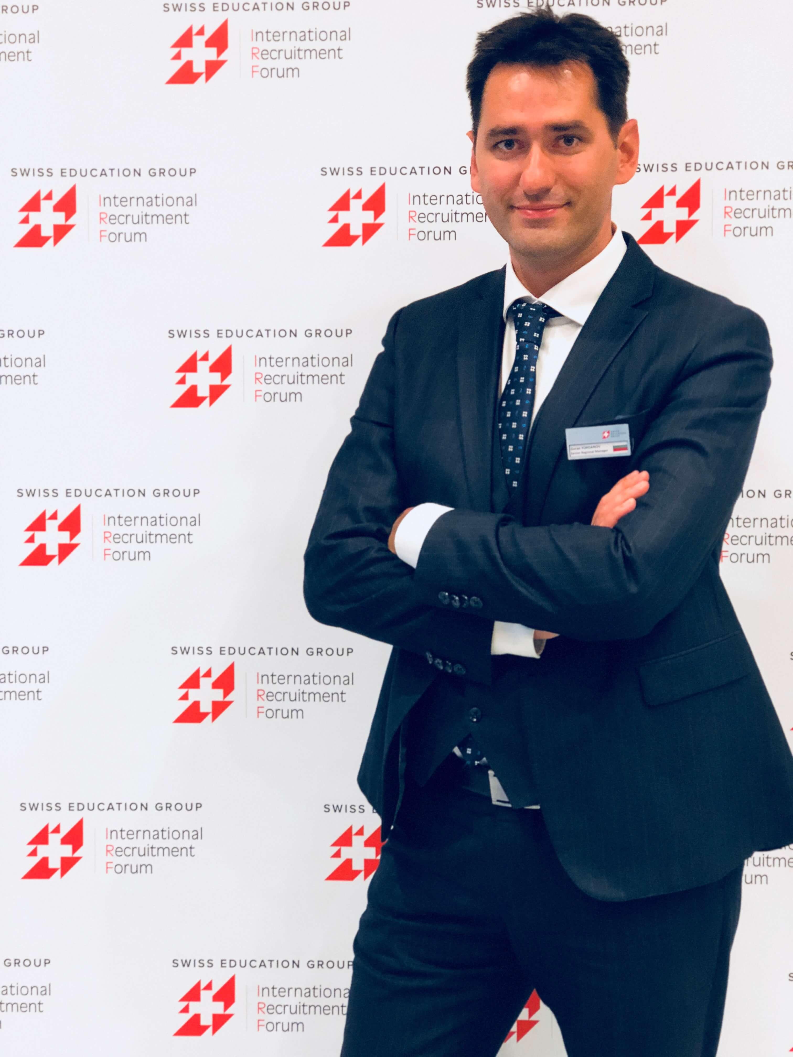 Goran Yordanv спикен семинара Высшее образование в Швейцарии Алматы msmstudy.com