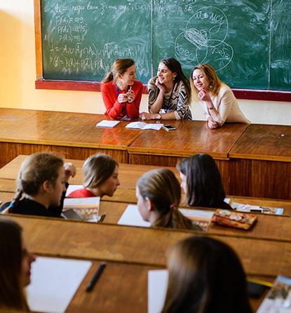 студенты МСМ на лекции msmstudy