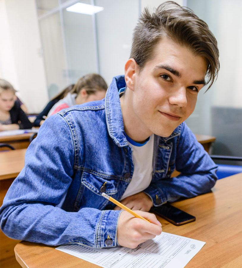 студент пишет тест msmstudy